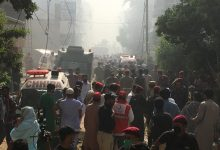 Photo of Plane crashes in Pakistan with around 100 on board